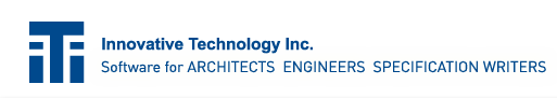 Innovative Technology Inc.- Software for ARCHITECTS  ENGINEERS  SPECIFICATION WRITERS